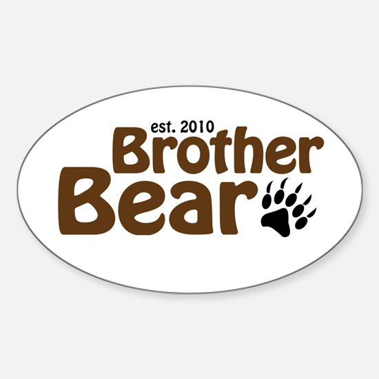 New Brother Bear 2010 Sticker (Oval)