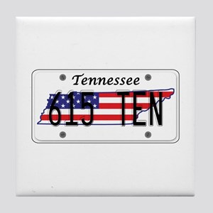 TN USA License Plate Tile Coaster