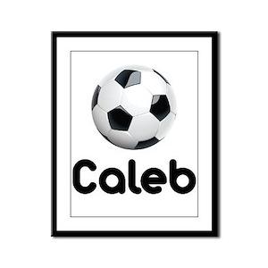 Soccer Caleb Framed Panel Print