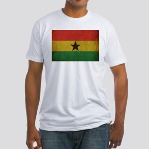 Vintage Ghana Flag Fitted T-Shirt