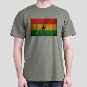 Vintage Ghana Flag Dark T-Shirt
