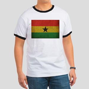 Vintage Ghana Flag Ringer T