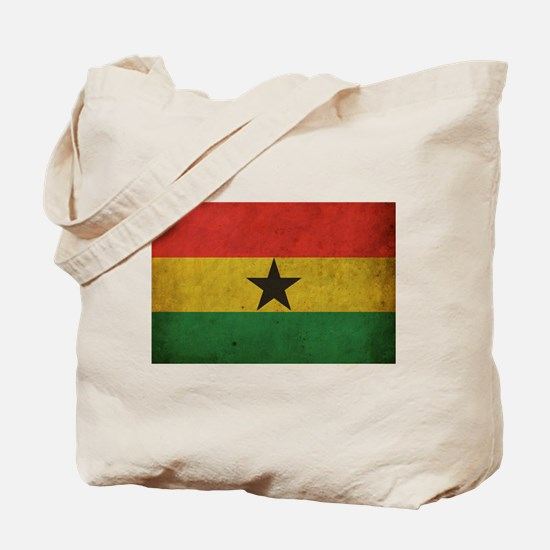 Vintage Ghana Flag Tote Bag
