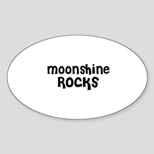 Moonshine Rocks Oval Sticker