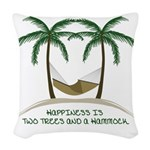 Happiness Is A Hammock Woven Throw Pillow