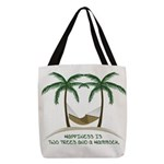 Happiness Is A Hammock Polyester Tote Bag