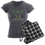 Happiness is a hammock Women's Charcoal Pajamas
