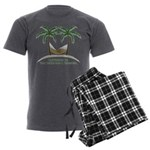 Happiness is a hammock Men's Charcoal Pajamas
