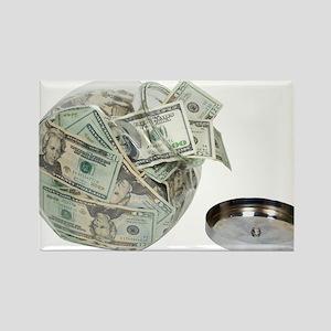 Cookie jar full of money Rectangle Magnet