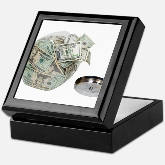 Cookie jar full of money Keepsake Box