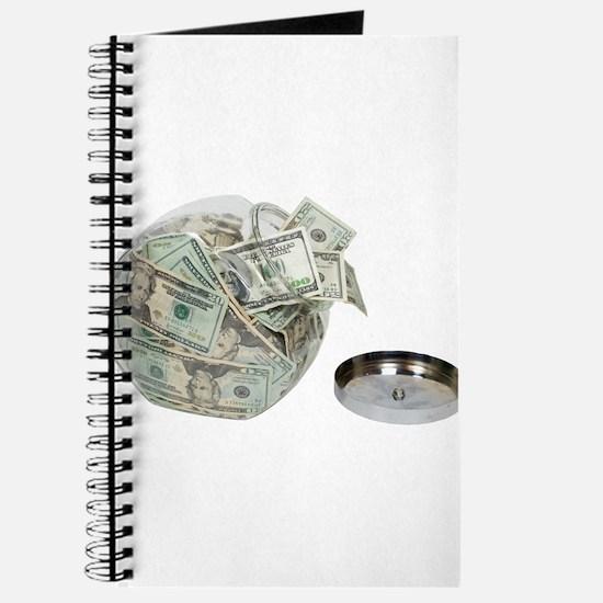 Cookie jar full of money Journal