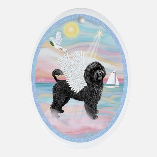 Heavenly Sea-Portuguese Water Dog Ornament (Oval)