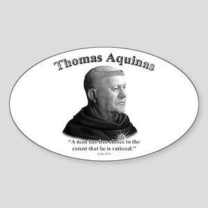 Thomas Aquinas 03 Oval Sticker