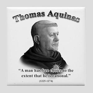 Thomas Aquinas 03 Tile Coaster