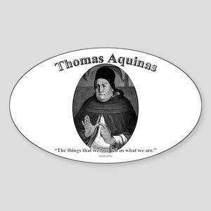 Thomas Aquinas 04 Oval Sticker