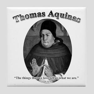 Thomas Aquinas 04 Tile Coaster