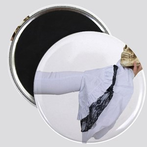 Wearing White Gothic lace and Magnet