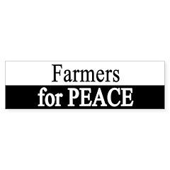 Farmers for Peace Bumper Bumper Sticker