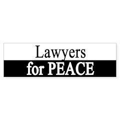 Lawyers for Peace Bumper Bumper Sticker