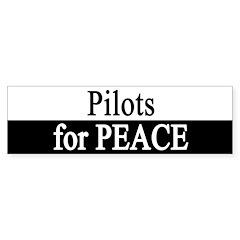 Pilots for Peace Bumper Bumper Sticker