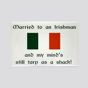 "Married To An Irishman Magnet (3""x2"")"