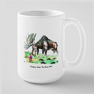 Bringing Home The Moosemeat Large Mug