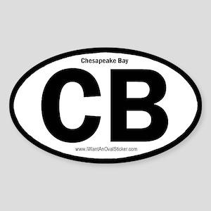 Chesapeake Bay Oval Sticker