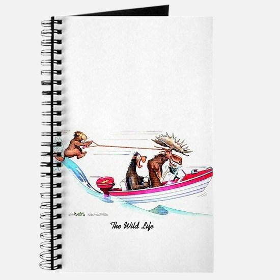 Cute Moose cartoon Journal