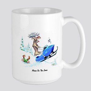 Moose on The Loose T Shirts Large Mug