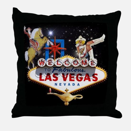 Funny Vegas Throw Pillow