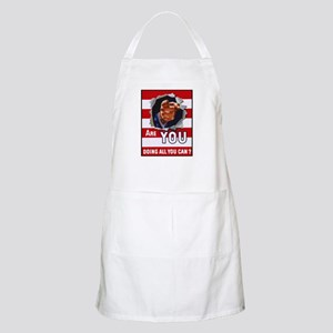 Are You Doing All You Can Vintage Poster BBQ Apron