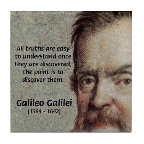 Discovery Truth Galileo Tile Coaster