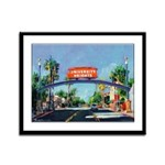 University Heights Sign Framed Panel Print