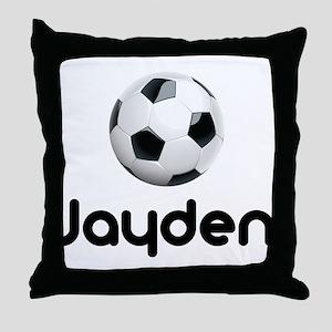 Soccer Jayden Throw Pillow