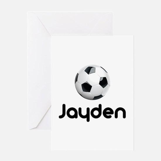 Soccer Jayden Greeting Card