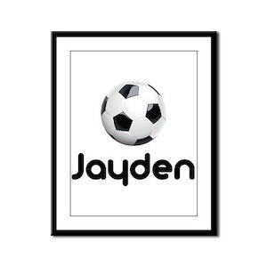 Soccer Jayden Framed Panel Print
