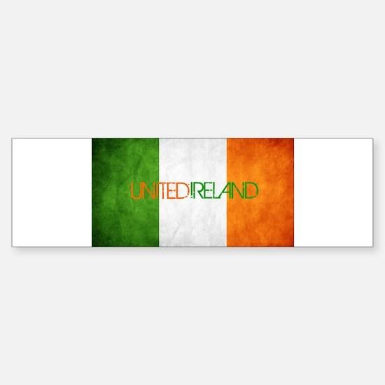 unitedireland_faded Bumper Bumper Bumper Sticker