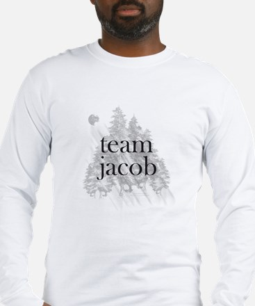 Team Jacob Werewolf Forest Long Sleeve T-Shirt