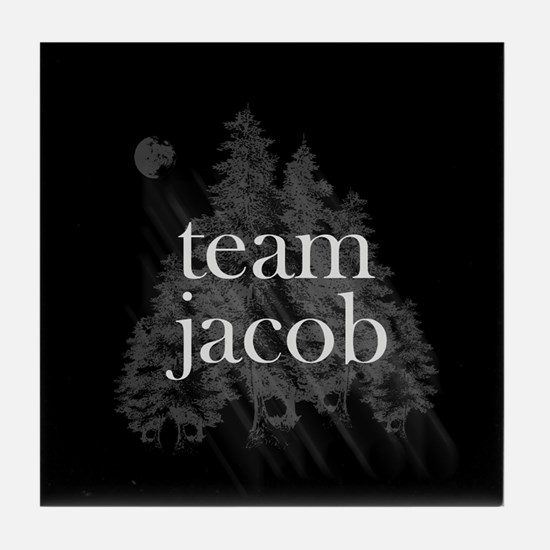Team Jacob Werewolf Forest Tile Coaster