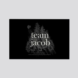 Team Jacob Werewolf Forest Rectangle Magnet