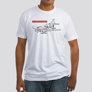 C-47 Routes of Escape Fitted T-Shirt