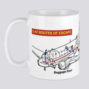 C-47 Routes of Escape Mug