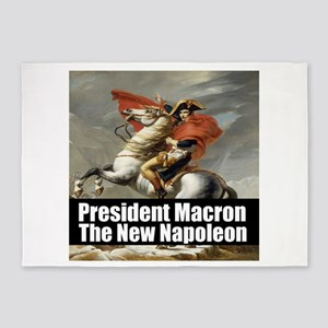 President Macron The New Napoleon 5'x7'Area Rug