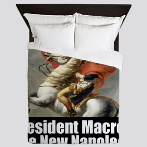 President Macron The New Napoleon Queen Duvet