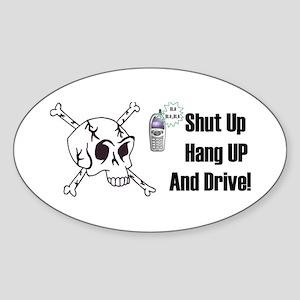 SKULL HEAD Oval Sticker
