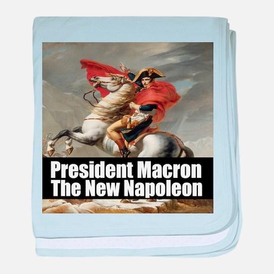 President Macron The New Napoleon baby blanket