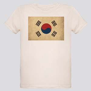 Vintage South Korea Flag Organic Kids T-Shirt