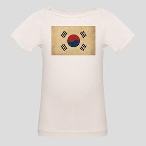 Vintage South Korea Flag Organic Baby T-Shirt