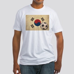Vintage South Korea Football Fitted T-Shirt