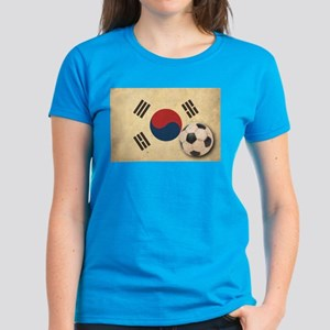 Vintage South Korea Football Women's Dark T-Shirt